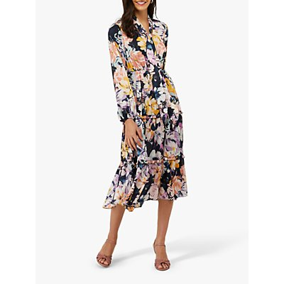 Monsoon Marie Print Shirt Dress, Multi