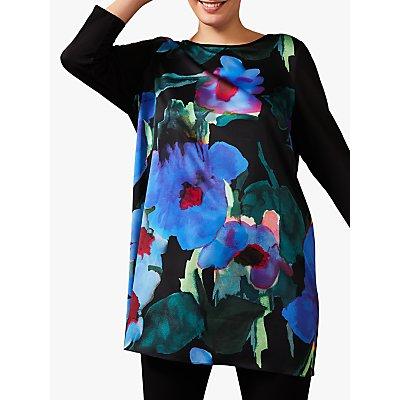 Studio 8 Kourtney Floral Print Tunic Top, Black/Multi