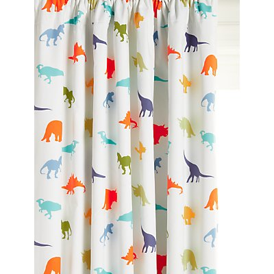 little home at John Lewis Dennis Dinosaur Pencil Pleat Blackout Children s Curtains  Multi - 5059139619244