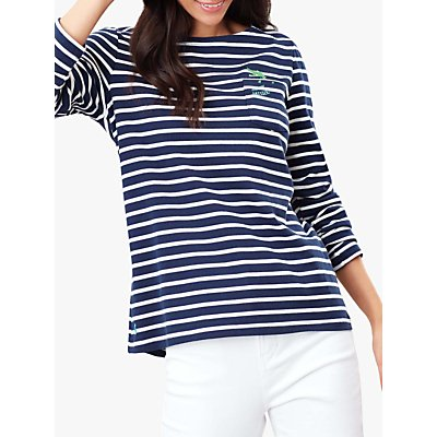 Joules Harbour Croc Embroidered Jersey Top, Crocodile Stripe