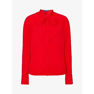 Winser London Georgette Tie Neck Blouse