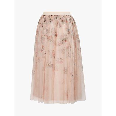 Ted Baker Sukee Bouquet Print Tulle Skirt, Light Pink