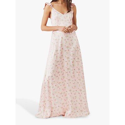 Ghost Dahlia Floral Satin Dress