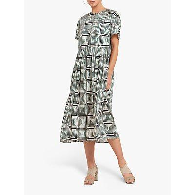 Helen McAlinden Louise Geometric Shift Midi Dress, Multi