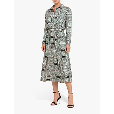 Helen McAlinden Rosie Geometric Shirt Dress, Multi