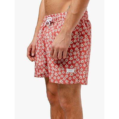 Edmmond Studios Bloom Print Swim Shorts, Red