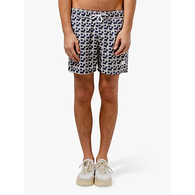 Edmmond Studios Palette Print Swim Shorts, Blue