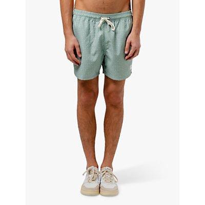 Edmmond Studios Peniche Print Swim Shorts, Green
