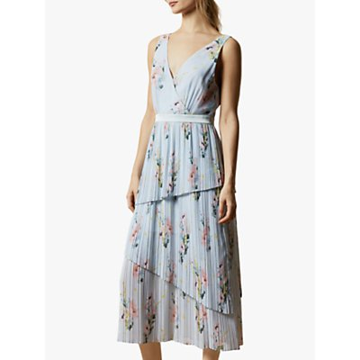 Ted Baker Orrela Woodland Sleeveless Tiered Dress