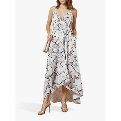 Ted Baker Oleyva Abstract Floral Midi Dress, Light Pink