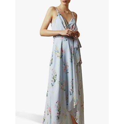 Ted Baker Arlissa Floral Wrap Dress, Light Blue