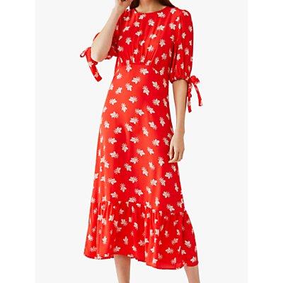 Ghost Fleurette Floral Print Midi Dress, Sweetheart Clover