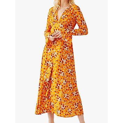 Ghost Flori Floral Print V-Neck Midi Dress