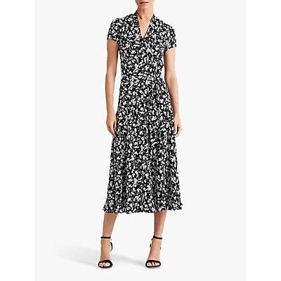 Lauren Ralph Lauren Amit Floral Print Dress, Polo Black/Silk White