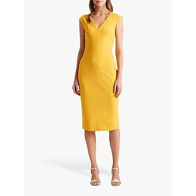 Lauren Ralph Lauren Janette Capped Sleeve Dress, True Marigold