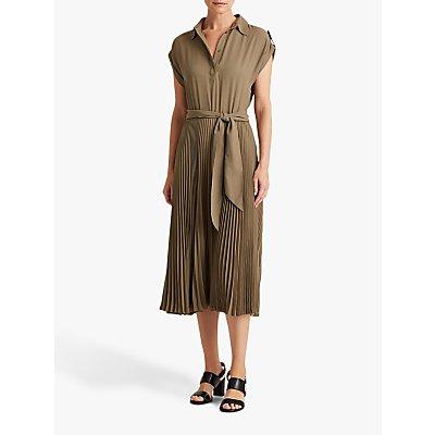 Lauren Ralph Lauren Algis Cap Sleeve Dress, Dark Sage