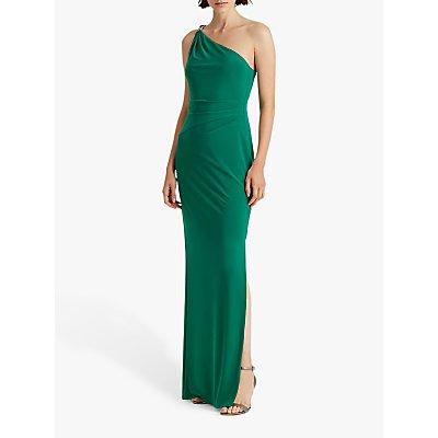 Lauren Ralph Lauren Belina One Shoulder Evening Dress, Malachite