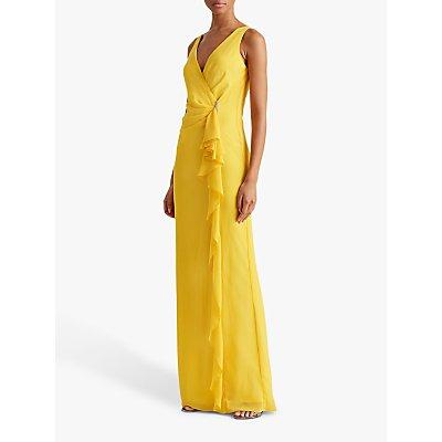 Lauren Ralph Lauren Hermina Ruffle Evening Dress, True Marigold