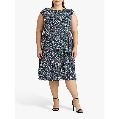Lauren Ralph Lauren Curve Vilodie Floral Dress, Polo Black/Multi
