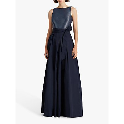 Lauren Ralph Lauren Agni Bow Waist Maxi Dress, Lighthouse Navy