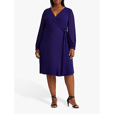 Lauren Ralph Lauren Curve Cooper Midi Dress, Cannes Blue