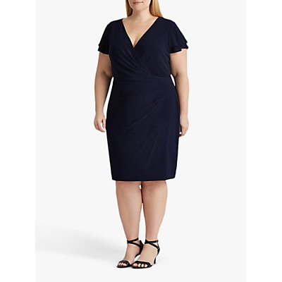 Lauren Ralph Lauren Curve Pica Day Midi Dress, Lighthouse Navy