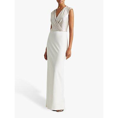 Lauren Ralph Lauren Irakita Evening Dress, Ivory/Champagne