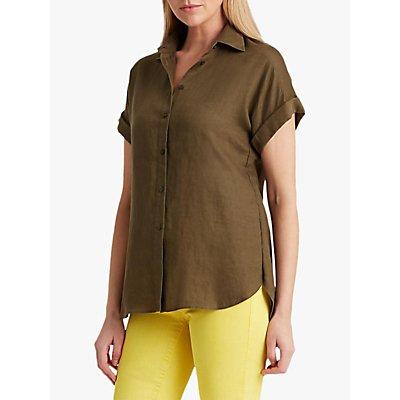 Lauren Ralph Lauren Broono Short Sleeve Linen Shirt