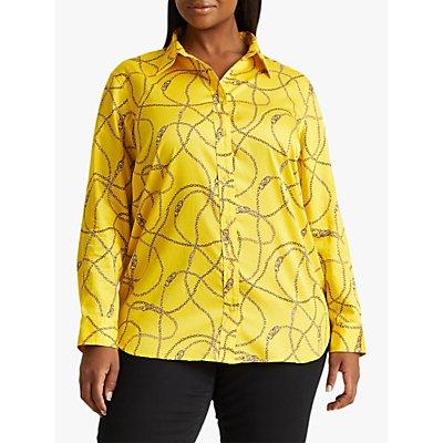 Lauren Ralph Lauren Curve Cooper Chain Print Shirt, Dandelion
