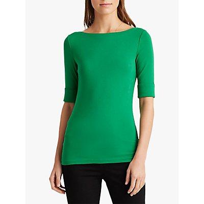 Lauren Ralph Lauren Judy Jersey Top, Hedge Green