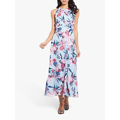 Adrianna Papell Floral Midi Dress, Blue/Multi