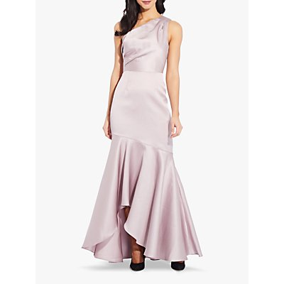Adrianna Papell Mikado Long Flared Gown, Marble