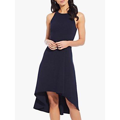 Adrianna Papell Pleat Detail Sleeveless Dress, Blue Moon