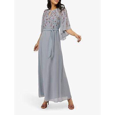 Monsoon Kalina Embellished Kaftan Dress, Blue
