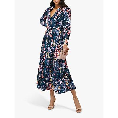 Monsoon Fawn Floral Print Shirt Dress, Blue