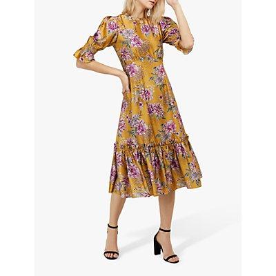 Monsoon Pagen Midi Dress, Yellow