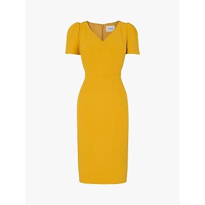 L.K.Bennett Rebecca Crepe Shift Dress, Mustard