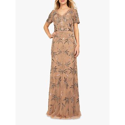 Beaded Dreams Embellished Maxi Dress, Pale Mauve