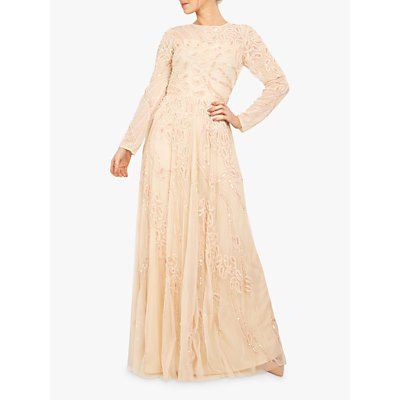 Beaded Dreams Embellished Maxi Dress, Cream