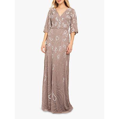 Beaded Dreams Embellished Maxi Dress, Dark Lilac