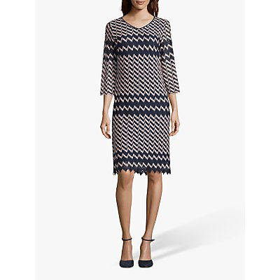 Betty Barclay Crochet Dress, Dark Blue/Rosé