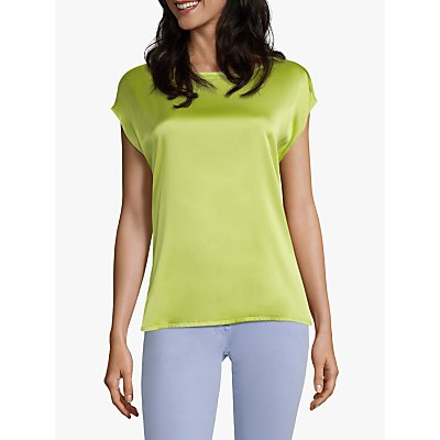 Betty Barclay Sophie Round Neck Silk Top, Wild Lime