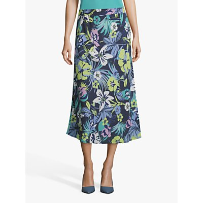 Betty Barclay Floral A-Line Skirt, Dark Blue/Green