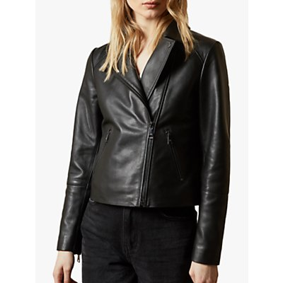 Ted Baker Janeal Leather Biker Jacket  Black - 5059353755681