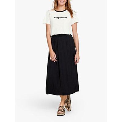 hush Santana Midi Skirt, Black