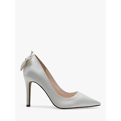 Rainbow Club Cora Satin Jewel Court Shoes, Ivory