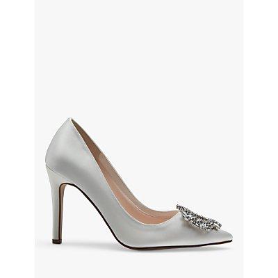 Rainbow Club Fifi Satin Jewel Court Shoes, Ivory