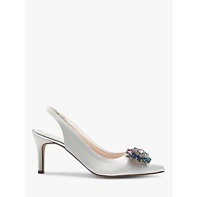 Rainbow Club Ida Embellished Slingback Court Shoes, Ivory