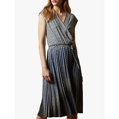 Ted Baker Leilann Abstract Midi Dress, Black