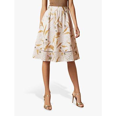 Ted Baker Jariita Cabana Broderie Anglaise Skirt, Light Pink